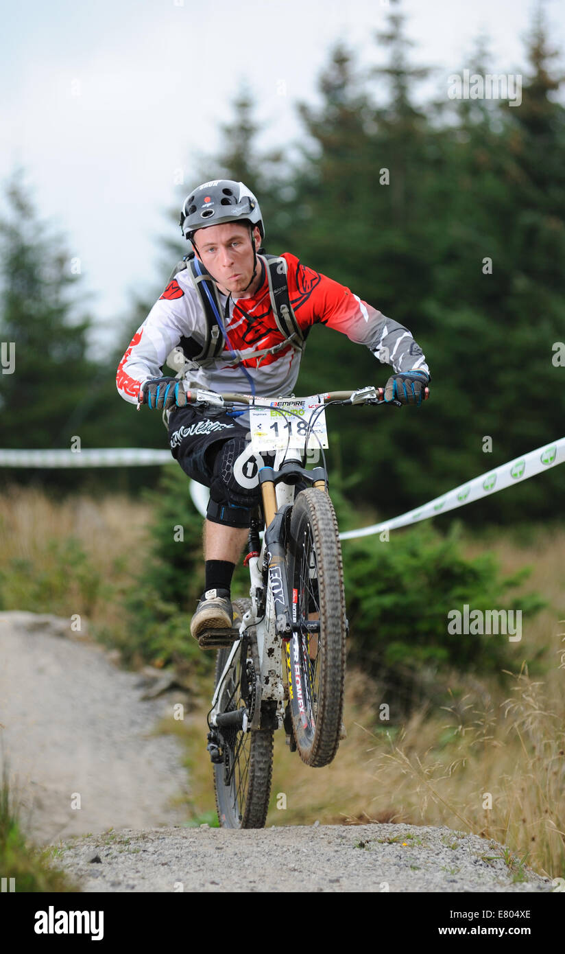 Rider in a n Enduro Mountain bike event - Stock Image