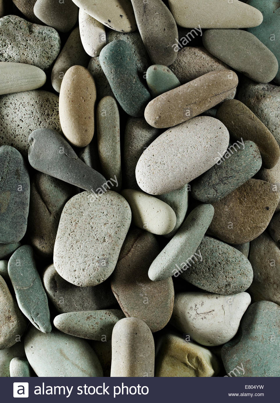River or beach stone, perfect for backgrounds - Stock Image
