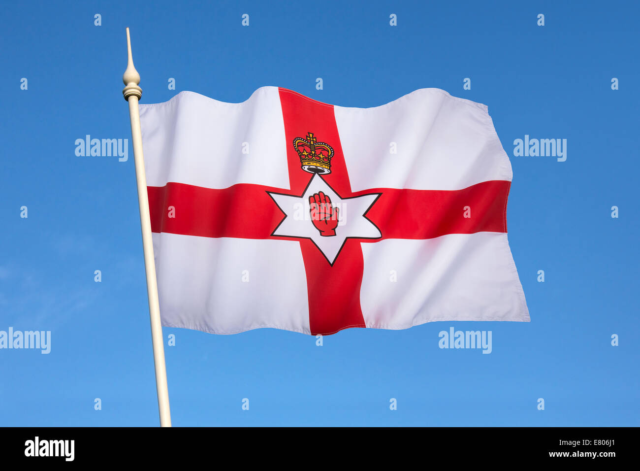 Flag of the Government of Northern Ireland. Also known as the Ulster Banner. Northern Ireland is a part of the United - Stock Image