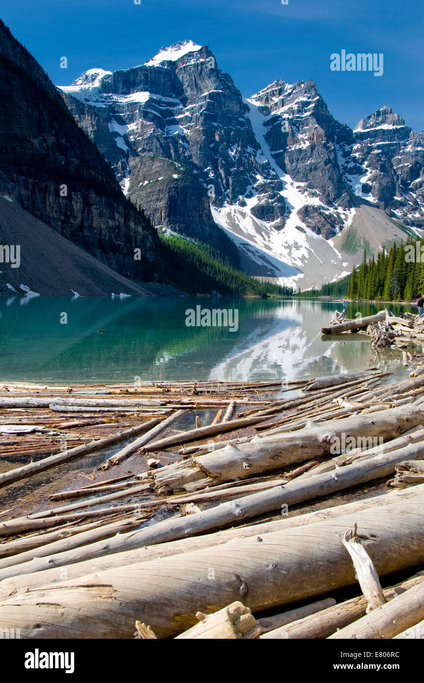 Moraine Lake Banff National Park Alberta Canada - Stock Image