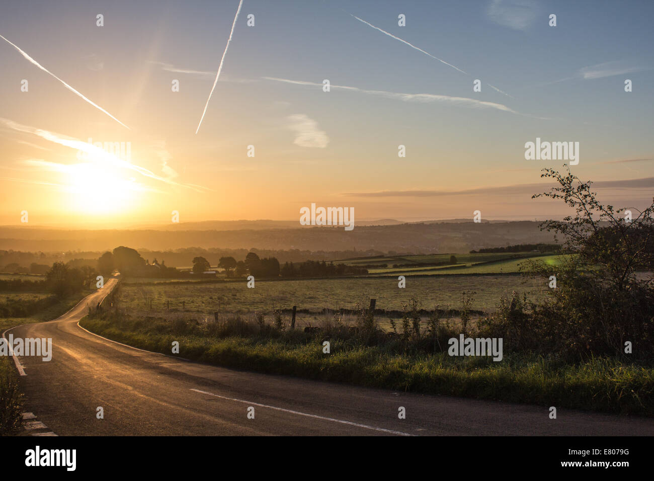 Peak District at sunrise - Stock Image