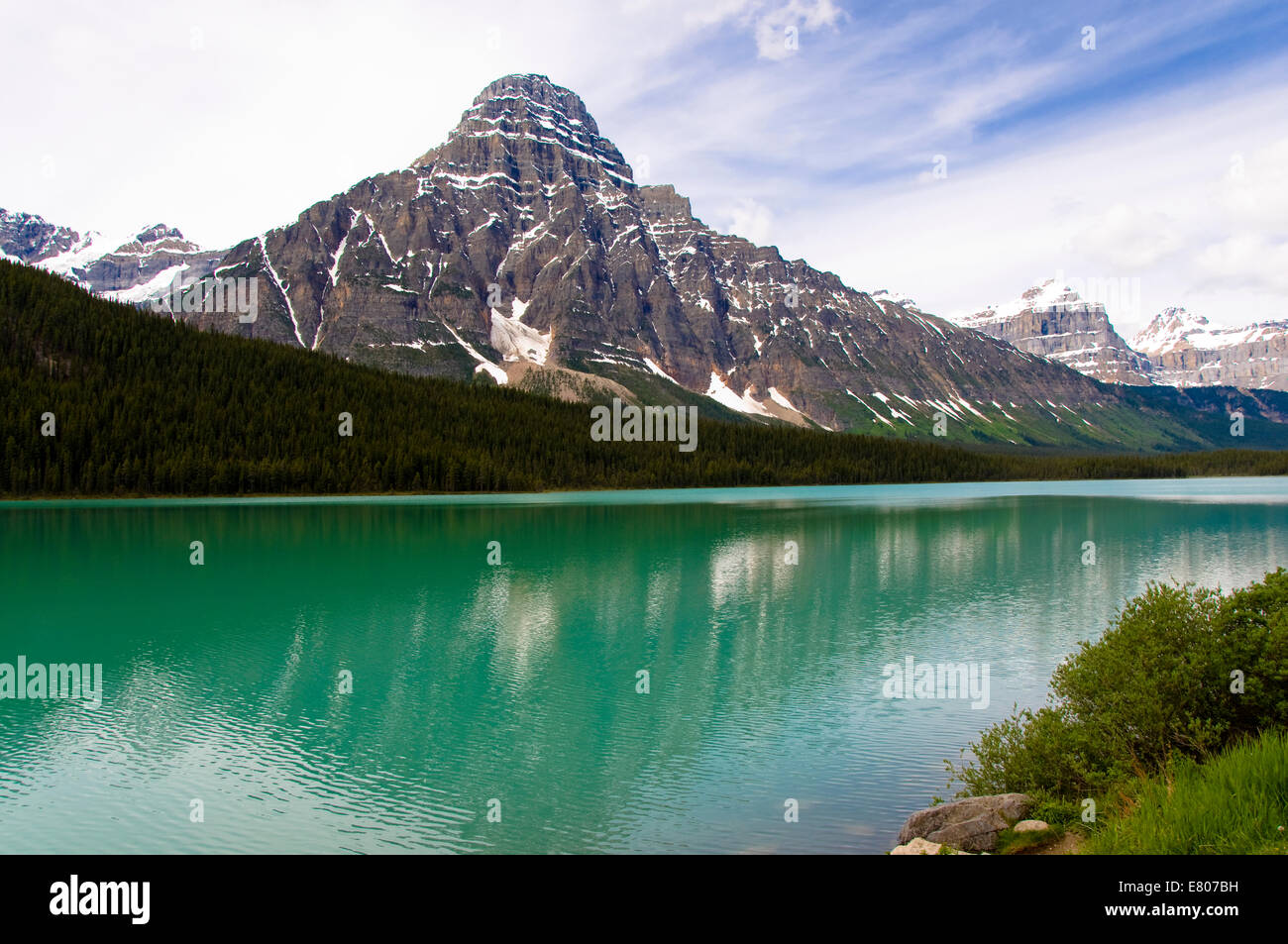 Waterfowl Lakes, Icefields Parkway, Banff, Alberta, Canada - Stock Image