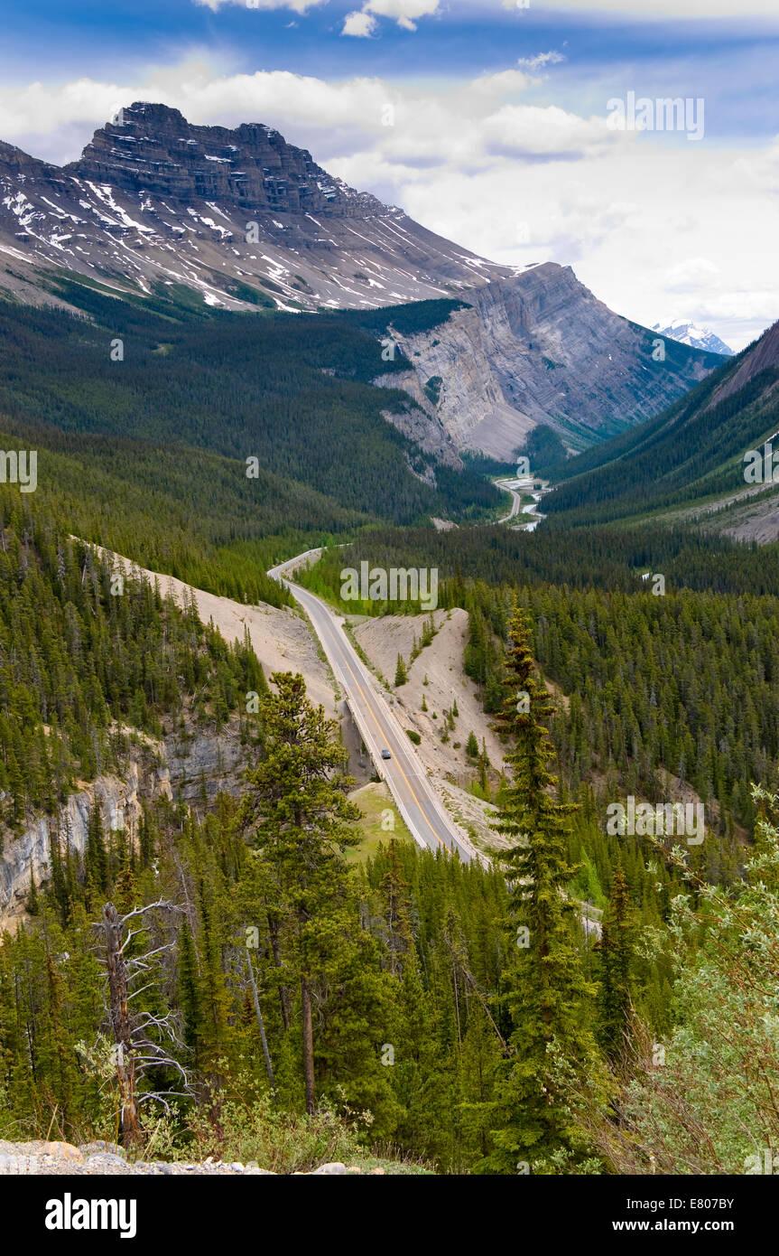 Saskatchewan River Crossing, Icefields Parkway, Banff National Park, Alberta, Canada - Stock Image