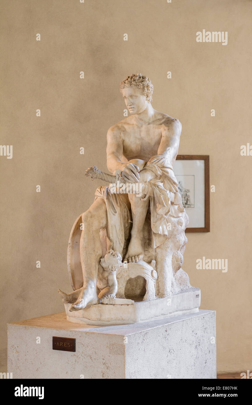 Statue of Ares - Stock Image