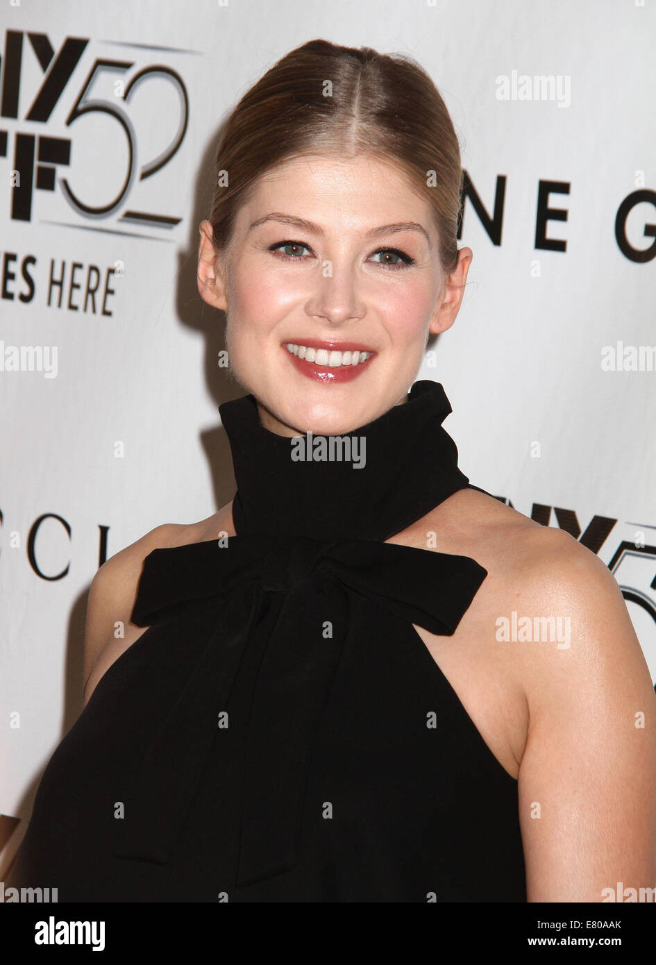 New York, New York, USA. 26th Sep, 2014. Actress ROSAMUND PIKE attends the 2014 New York Film Festival Opening Night - Stock Image