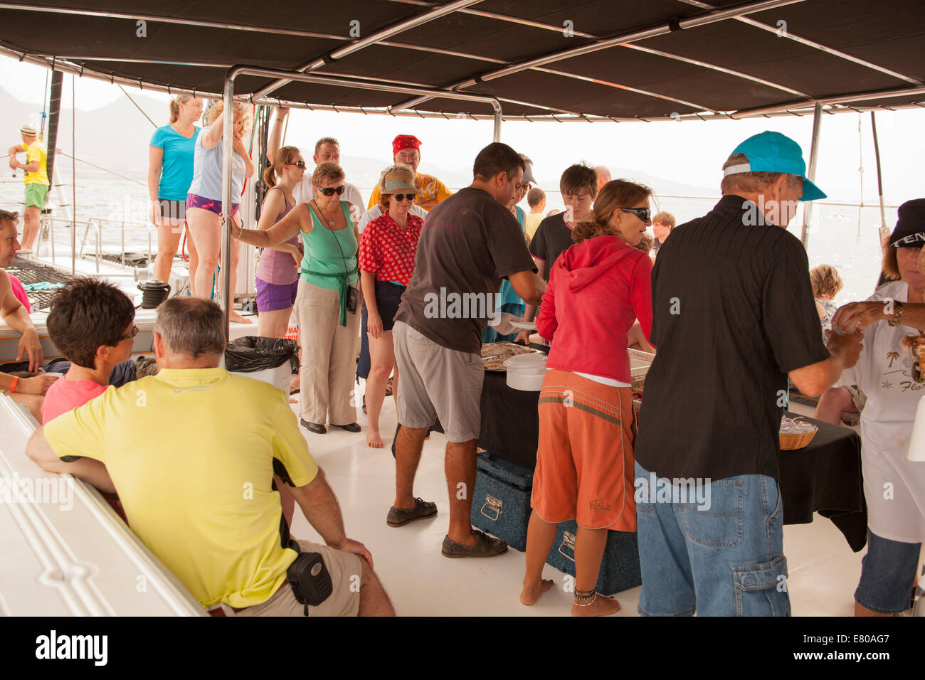 Dolphin watching boat trip - Stock Image