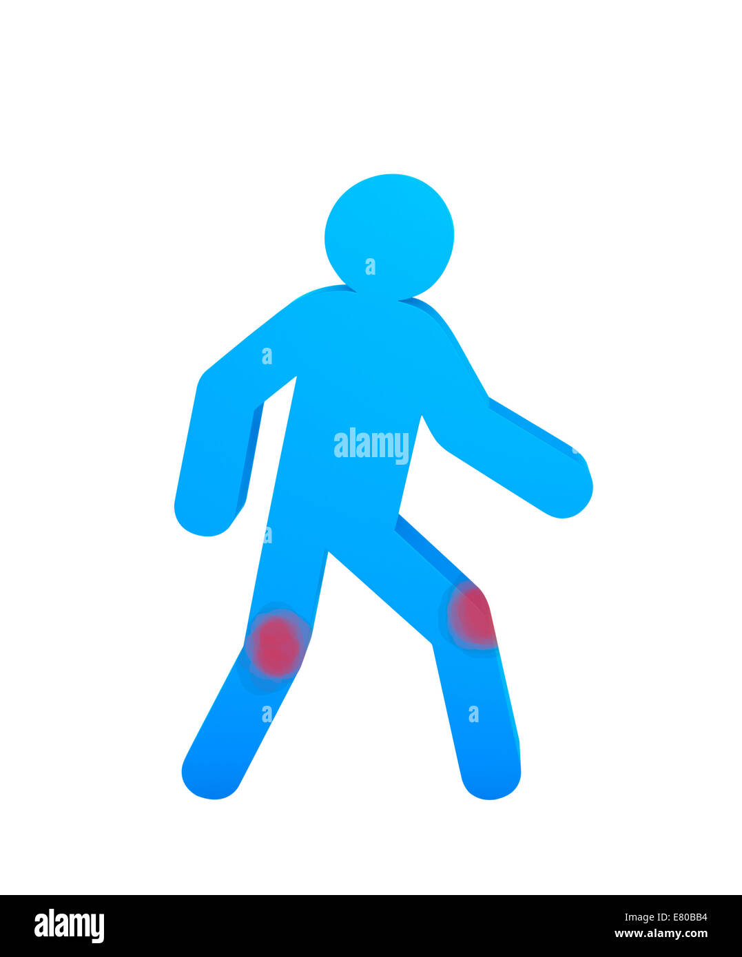 Human knee pain - Stock Image
