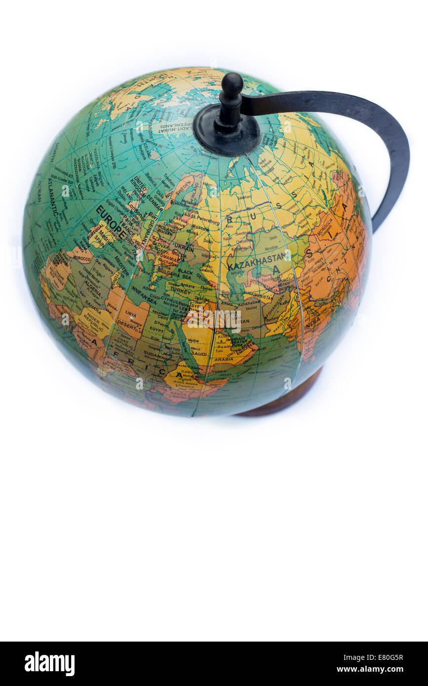 Still life of an antique globe - Stock Image