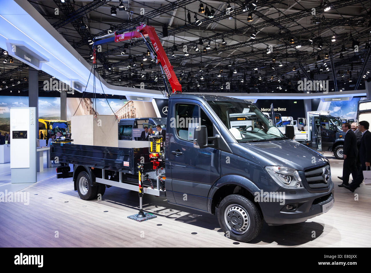 Mercedes Benz Sprinter 516 CDI at the 65th IAA Commercial Vehicles 2014 in Hannover, Germany - Stock Image