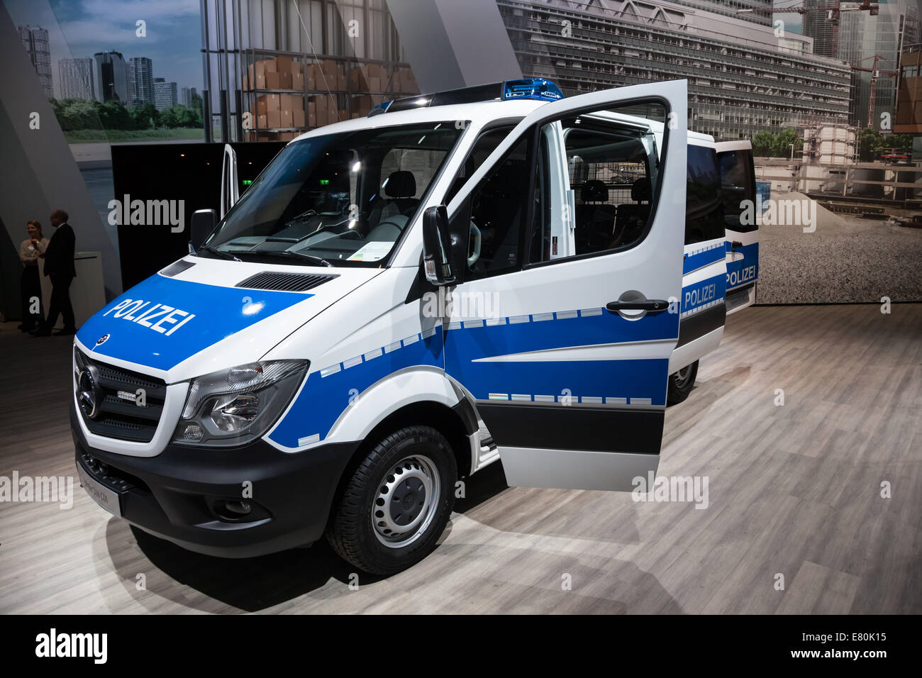 Mercedes Benz Sprinter 316 CDI Polizei van at the 65th IAA Commercial Vehicles 2014 in Hannover, Germany - Stock Image