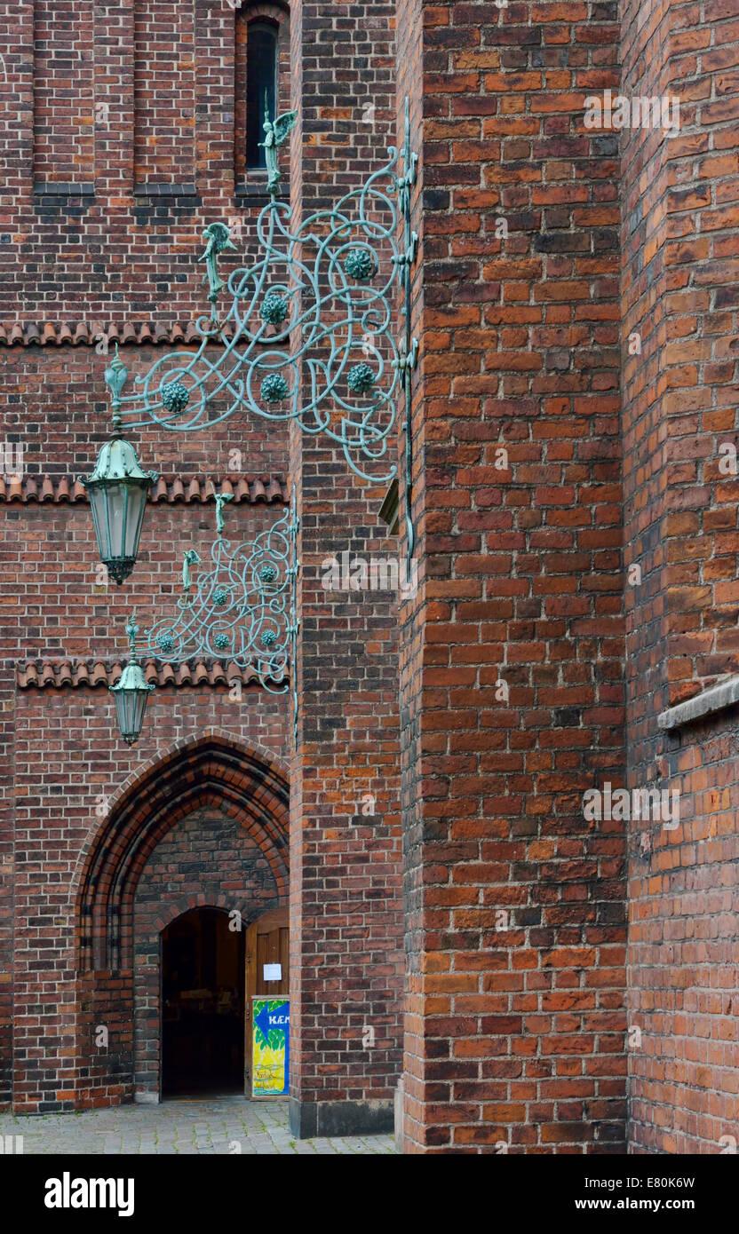 Light Fixture, Holy Ghost Church (Helligaandskirken), Copenhagen, Denmark 140815_62226 - Stock Image