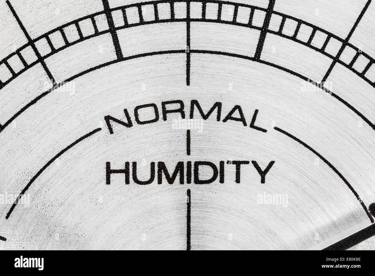 Humidity meter macro close up detail. - Stock Image