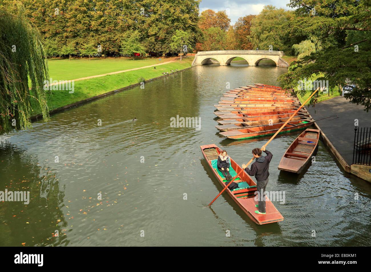 Punting, Cambridge, UK. - Stock Image