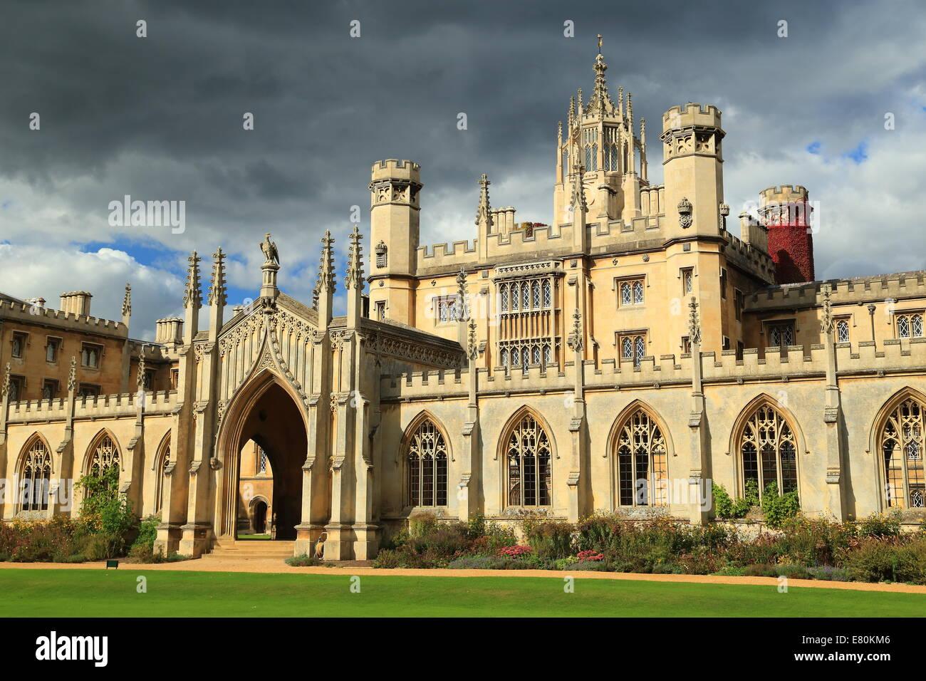 St John's college, Cambridge, UK. - Stock Image