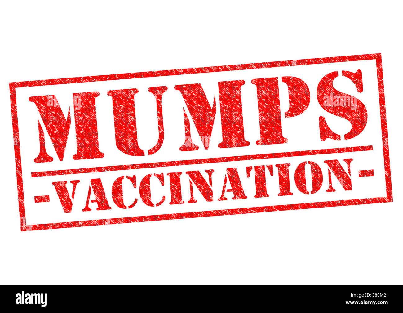 MUMPS VACCINATION red Rubber Stamp over a white background. Stock Photo