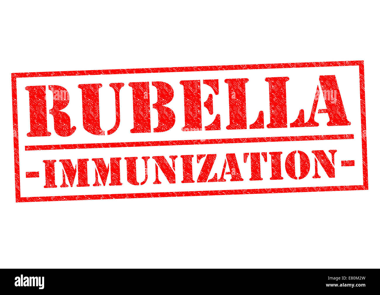RUBELLA IMMUNIZATION red Rubber Stamp over a white background. - Stock Image