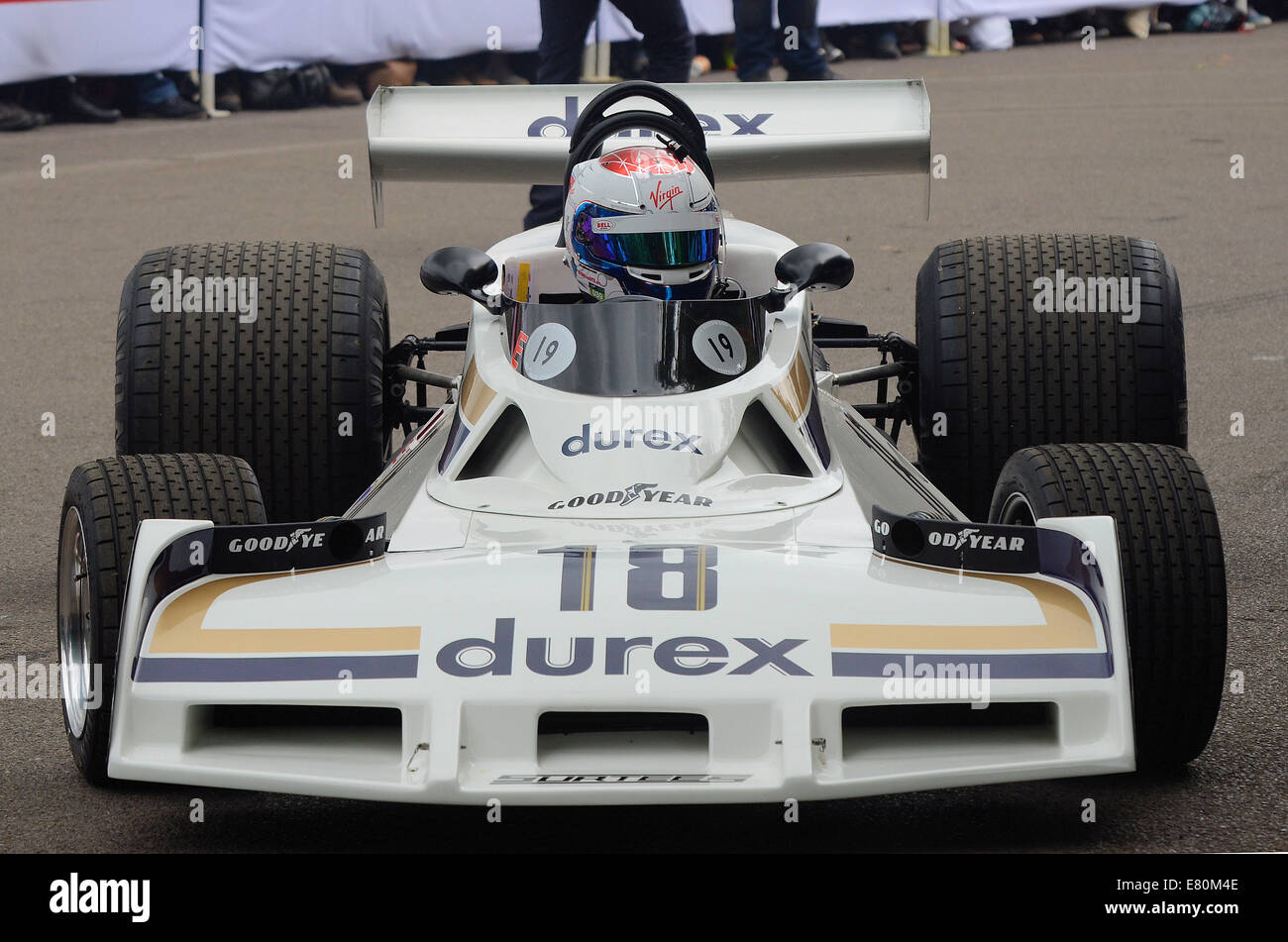 The Surtees TS19 was not a particularly successful car.It was though a very long serving car, and has gone down - Stock Image