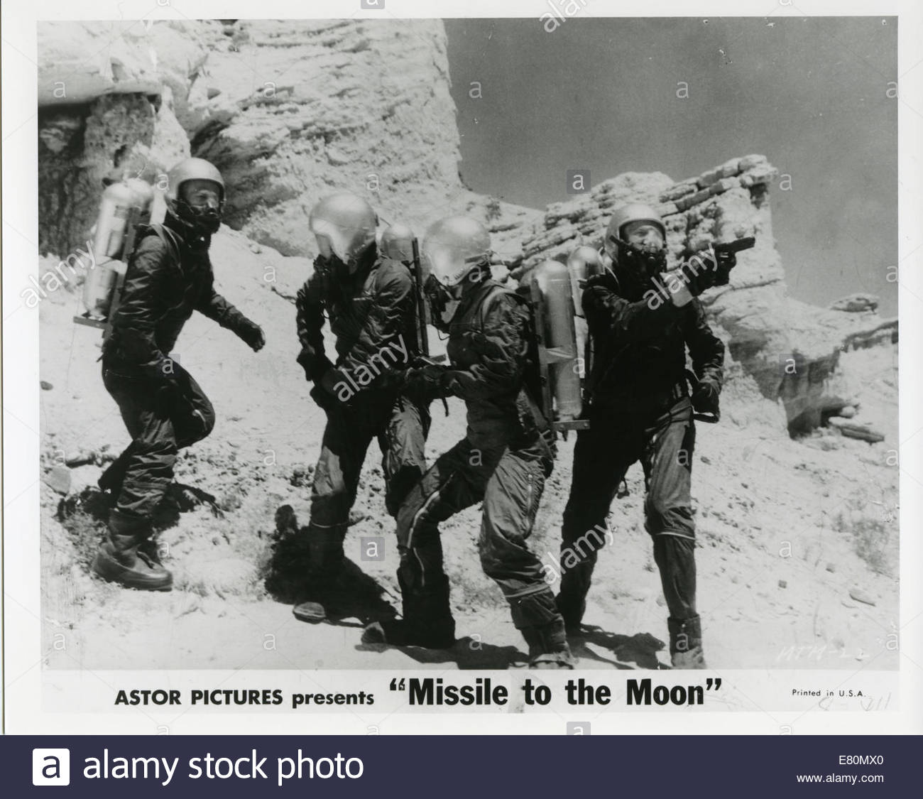 MISSILE TO THE MOON (1958) - Stock Image