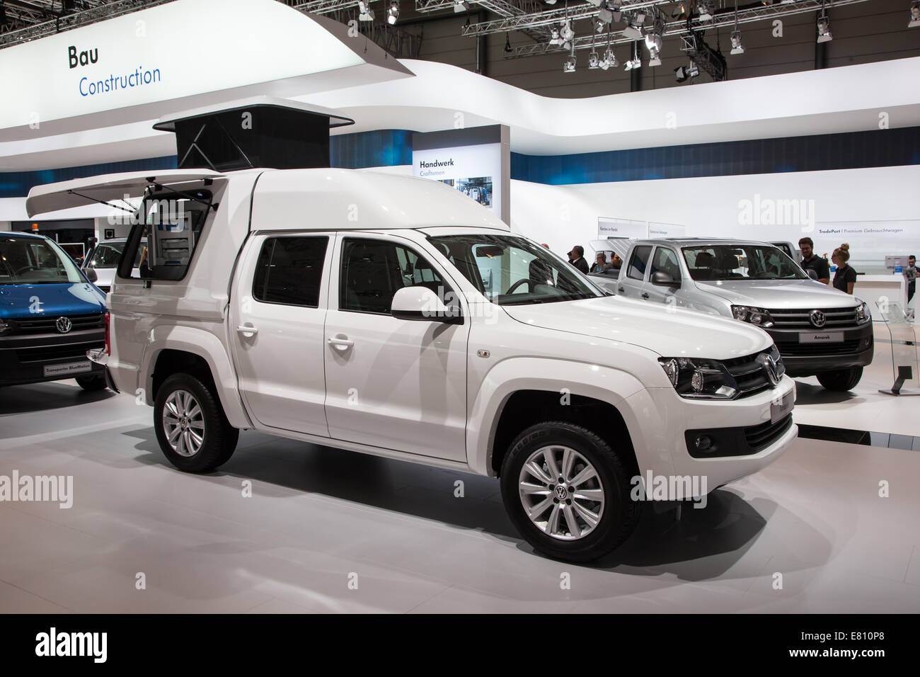 New VW Amarok Pickup truck at the 65th IAA Commercial Vehicles fair 2014 in Hannover, Germany - Stock Image