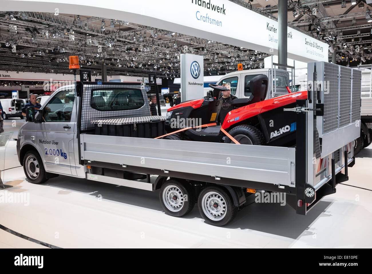 New VW T5 truck at the 65th IAA Commercial Vehicles fair 2014 in Hannover, Germany - Stock Image