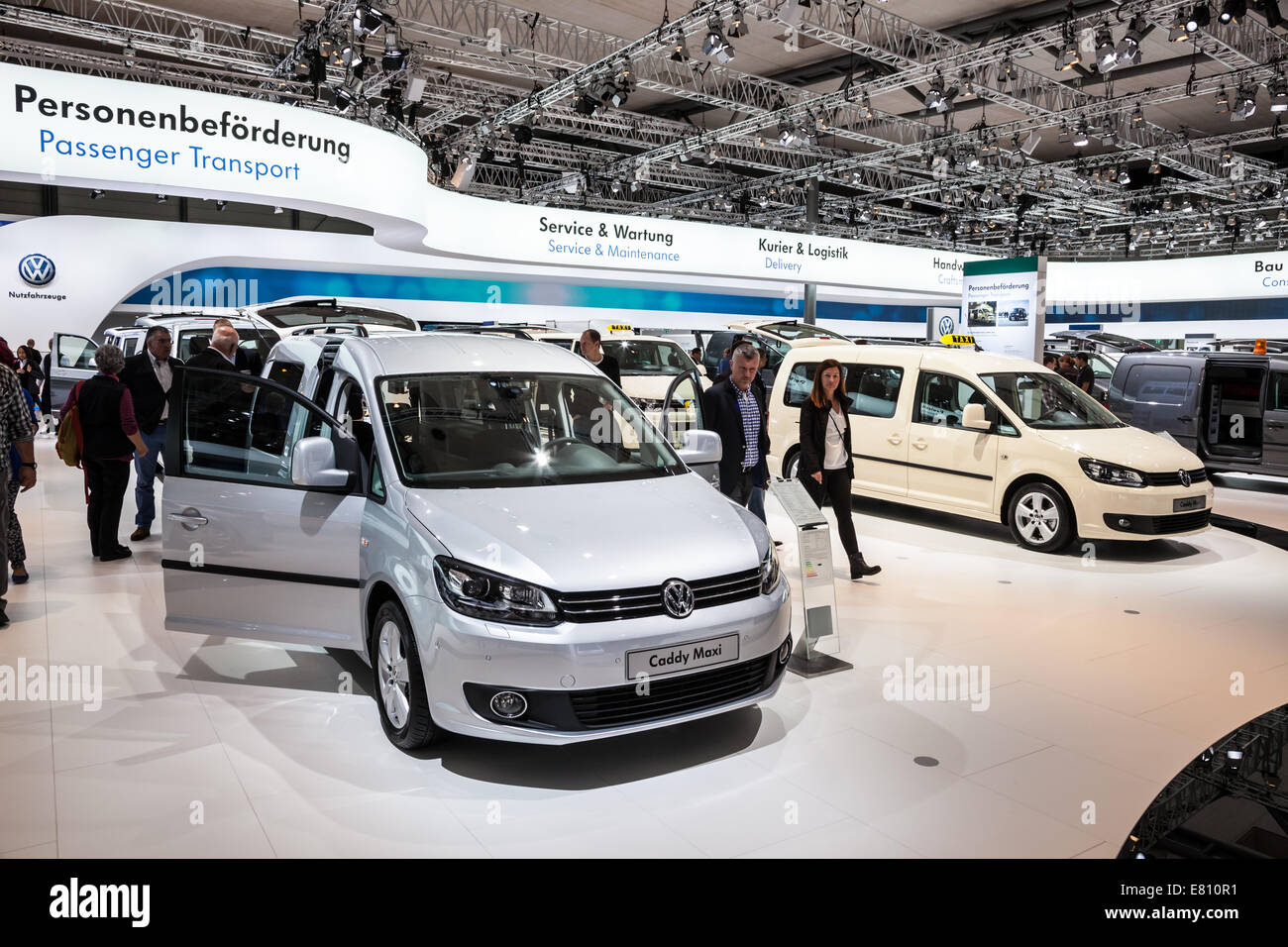 New VW Caddy maxi at the 65th IAA Commercial Vehicles fair 2014 in Hannover, Germany - Stock Image