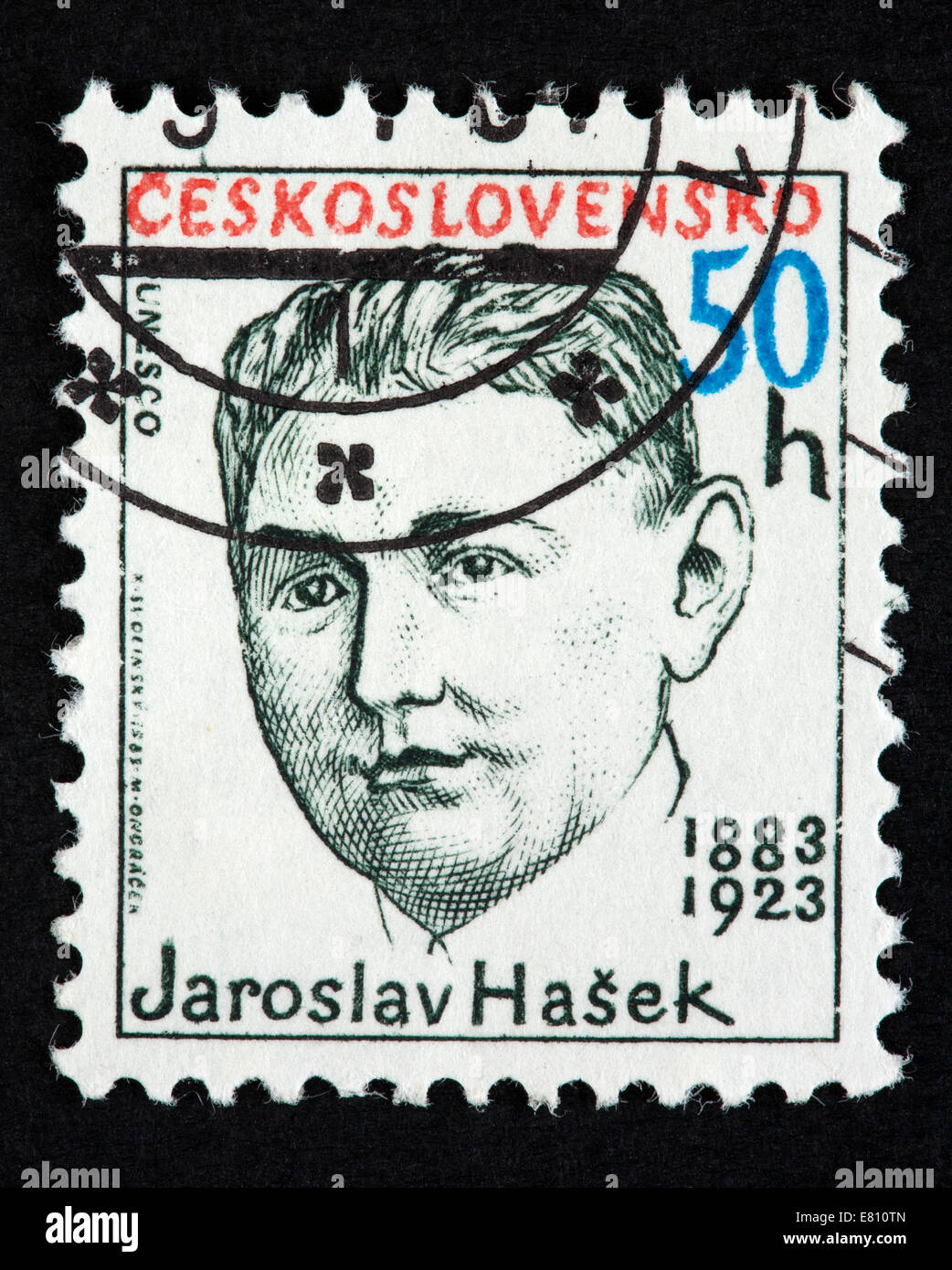 Czechoslovakian postage stamp Stock Photo