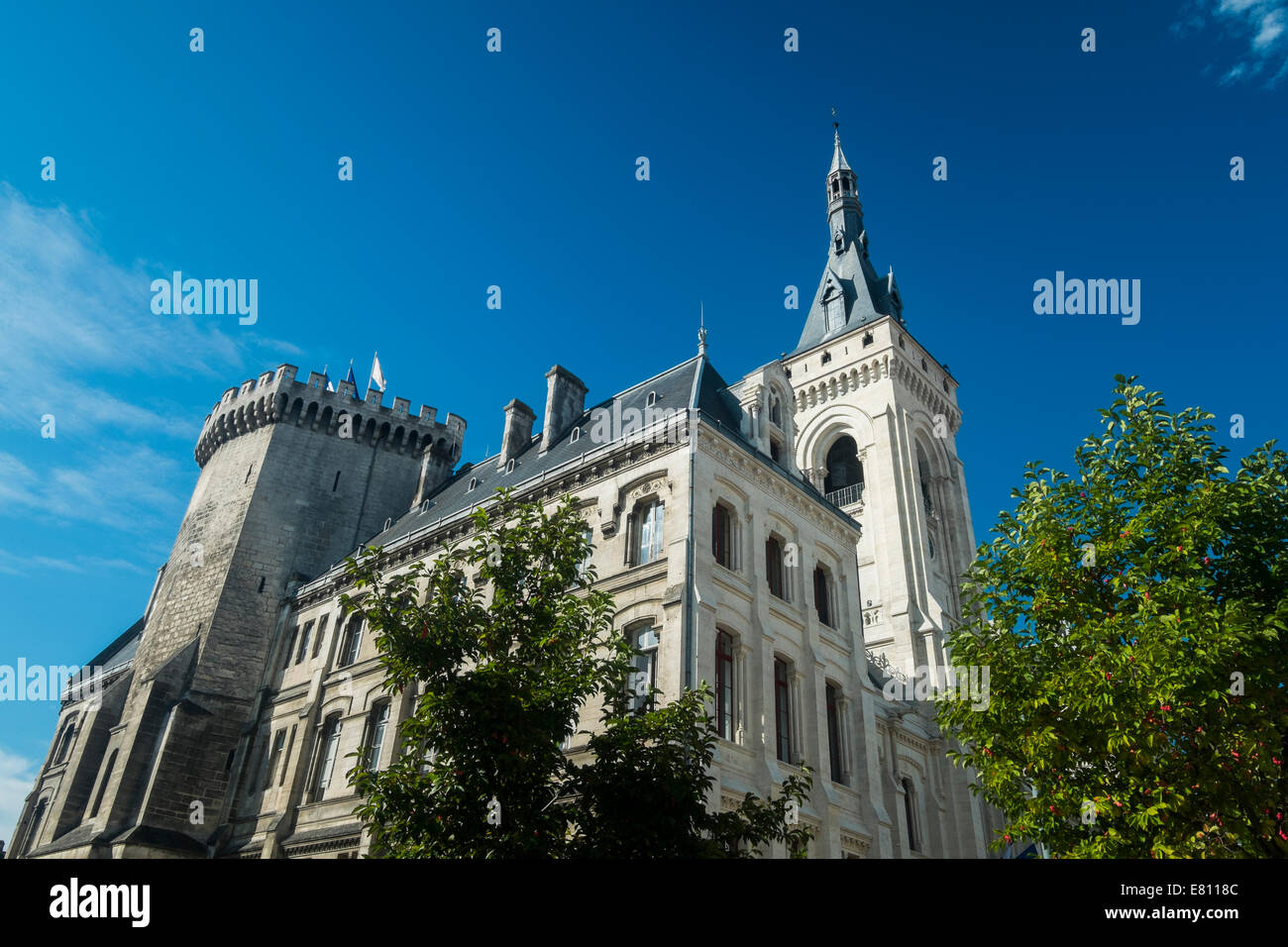 The Hotel De Ville At Angouleme, In The Charente Region Of France.   Stock