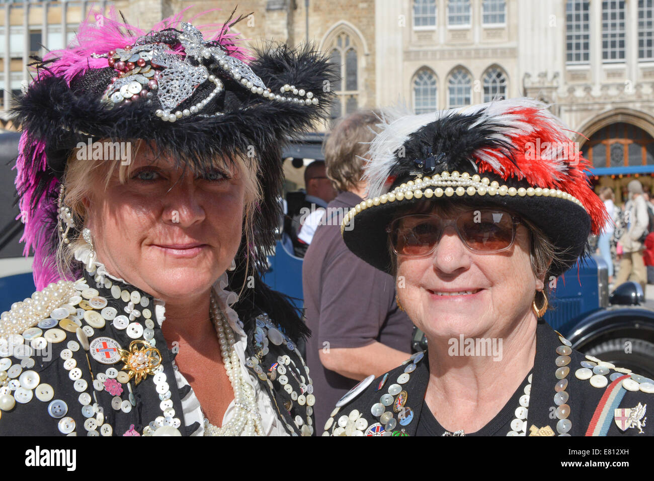 Guildhall Yard, London, UK. 28th September 2014. Two Pearly Queens at the annual  London Pearly Kings & Queens - Stock Image