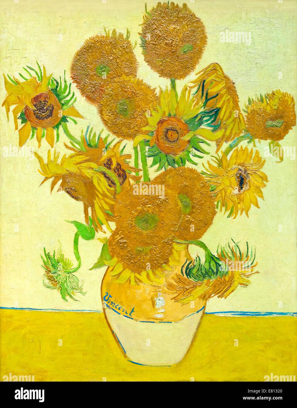 Sunflowers, Vincent van Gogh - Stock Image