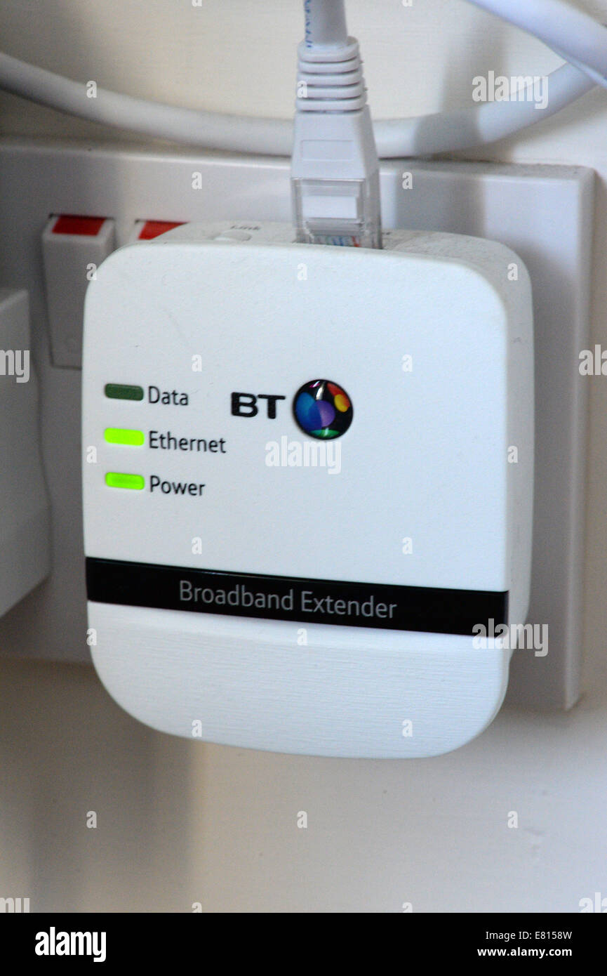 Extend Your Home Broadband Network With A Plug Plugged Into Ethernet Wiring For House Sockets