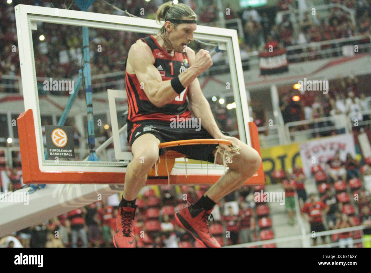 Walter Herrmann celebrates a championship for Flamengo after the second match for a Intercontinental Cup between - Stock Image