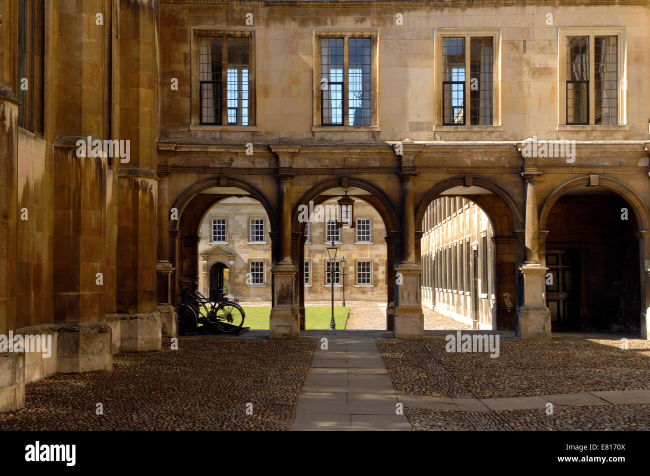 Peterhouse College in Cambridge - Stock Image