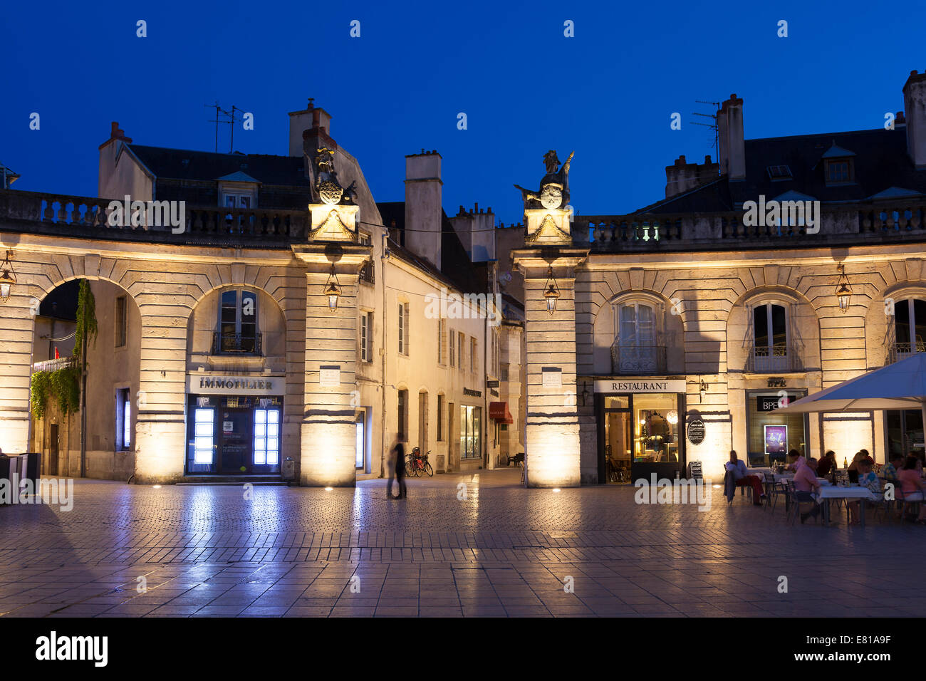 Liberation square, Dijon, Departement Cote-d'Or, Bourgogne, France - Stock Image