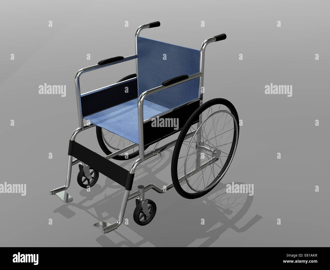 Wheelchair illustration. - Stock Image