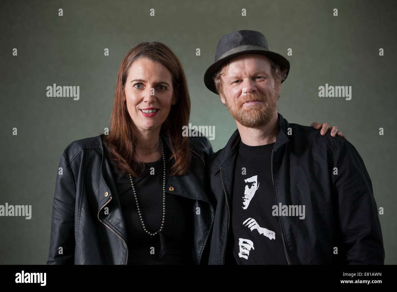 Authors, Nick Brooks & Lisa O'Donnell, at the Edinburgh International Book Festival 2014. - Stock Image