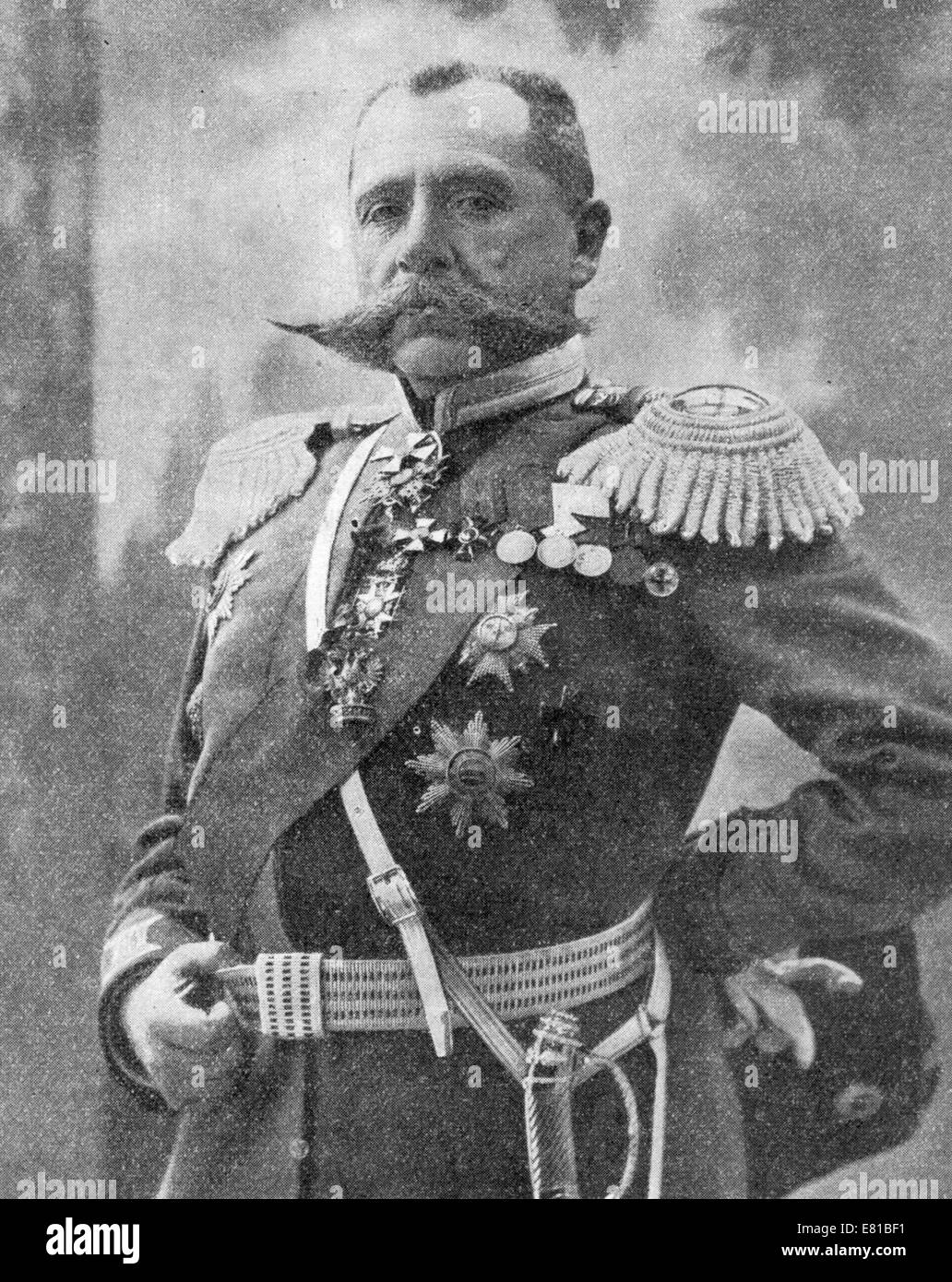 Paul von Rennenkampf, Russian general who served in the Imperial Russian Army for over 40 years, including during - Stock Image