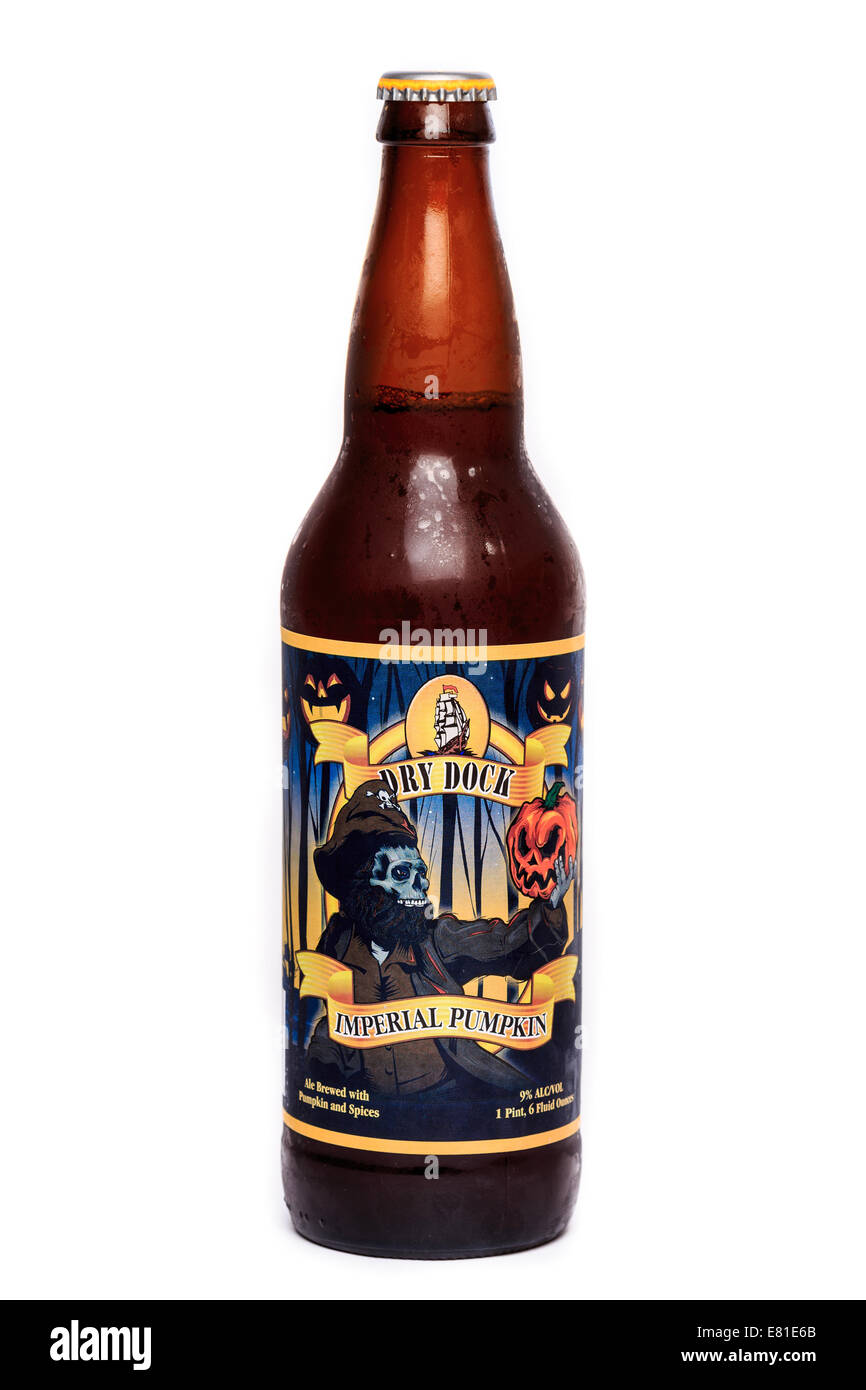 Dry Dock Imperial Pumpkin Ale - Stock Image