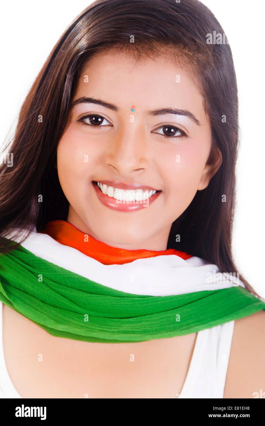 indian Preparation Girl Stock Photo