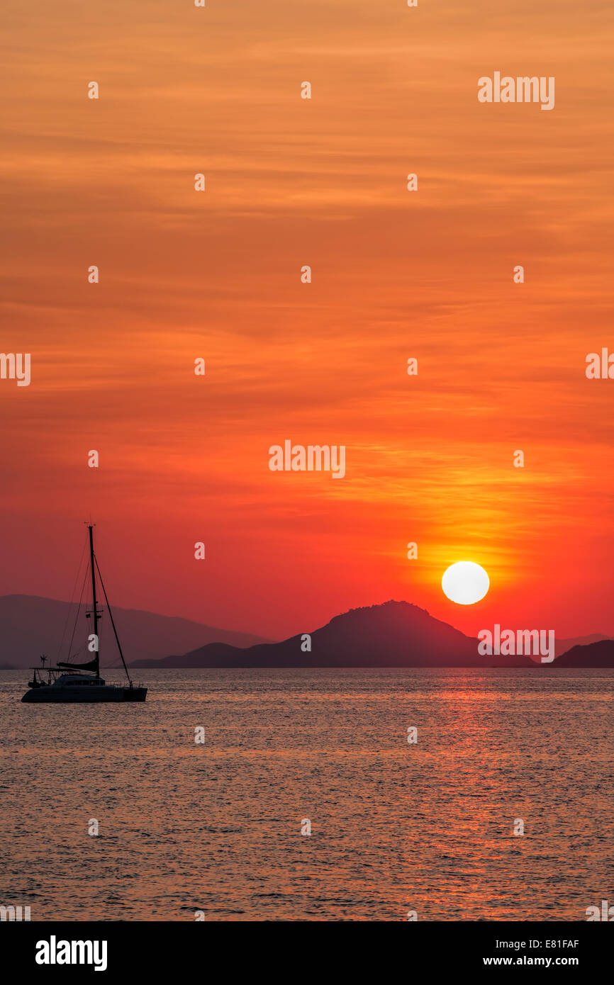 Sunset on Flores Stock Photo