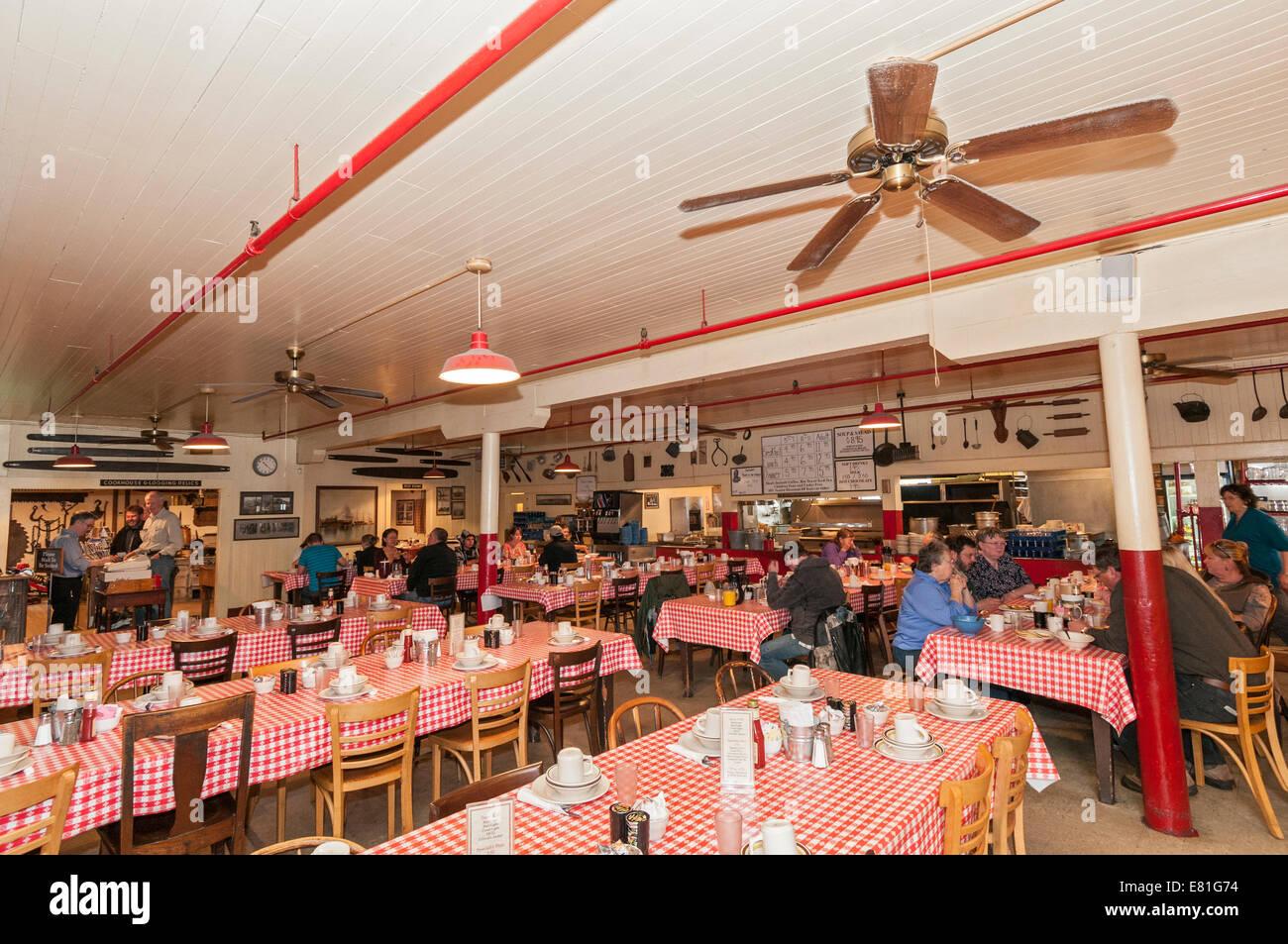 California, Samoa Cookhouse historic restaurant built 1890 - Stock Image
