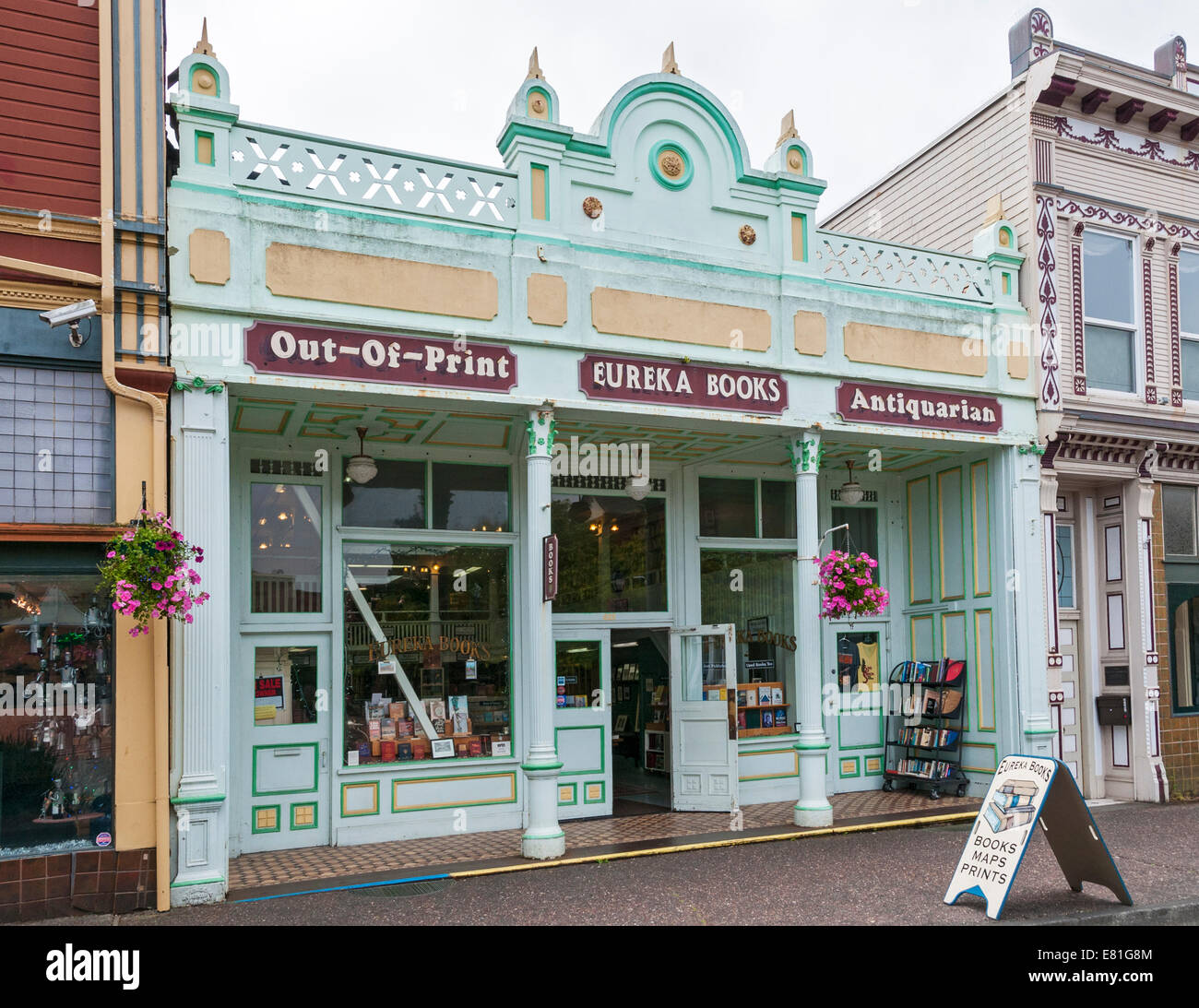 California, Eureka Books, bookstore - Stock Image