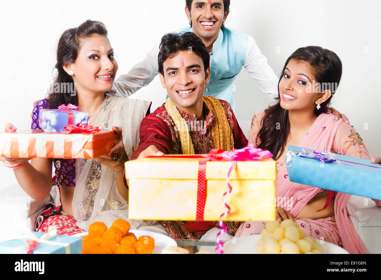 indian friends diwali gift with Sweets Stock Photo: 73793461 - Alamy for Diwali Gifts For Family  117dqh