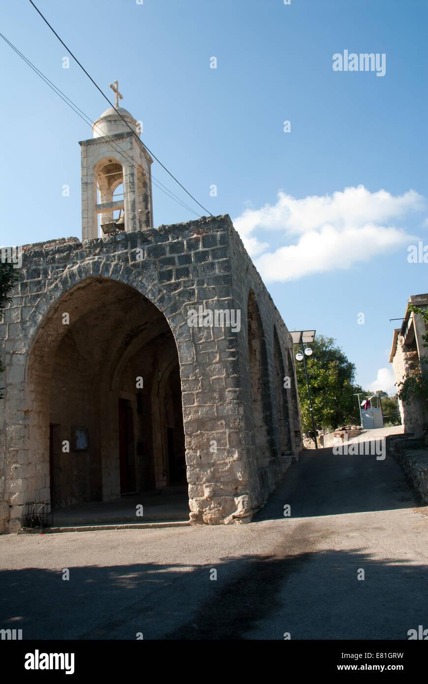 Mar Saba Church, Batroun, north Lebanon Stock Photo