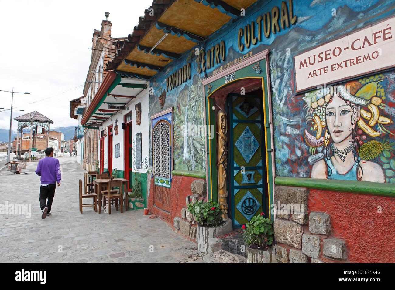 Curiosities café, Cuenca, Azuay Province, Ecuador - Stock Image