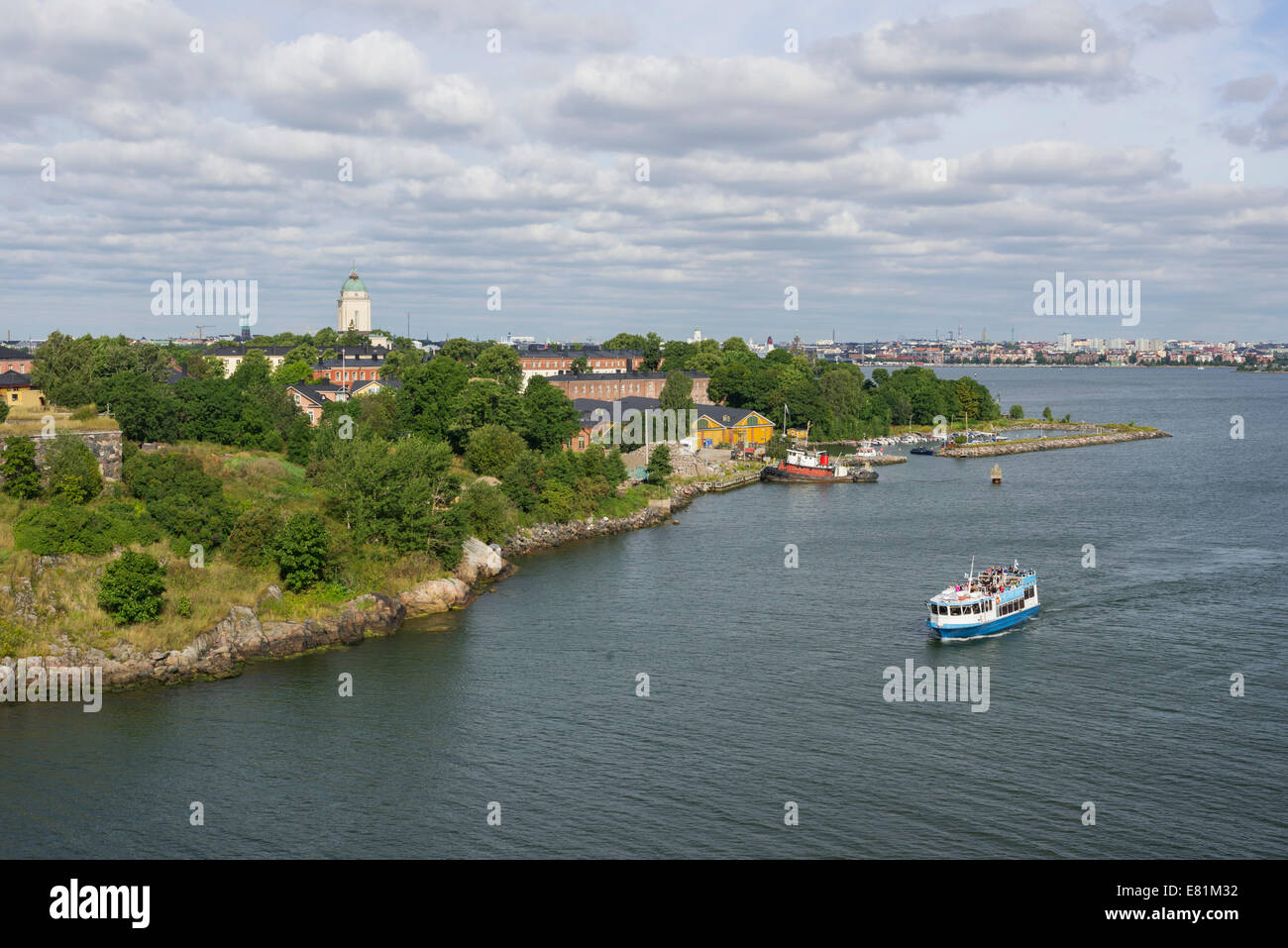 Views of Helsinki with the Suomenlinna Fortress, Uusimaa, Finland - Stock Image