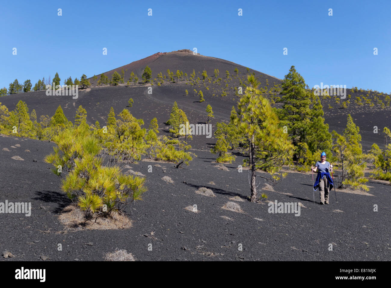 San Martín volcano, Cumbre Vieja in Fuencaliente, La Palma, Canary Islands, Spain - Stock Image