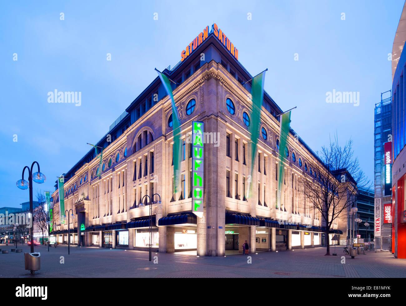 Galeria Kaufhof department store, the former Leonhard Tietz department store, Cologne, North Rhine-Westphalia, Germany - Stock Image