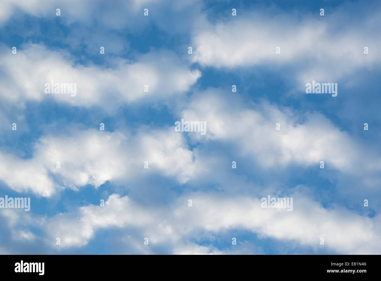 Cirrocumulus clouds, small fluffy clouds, Germany Stock Photo