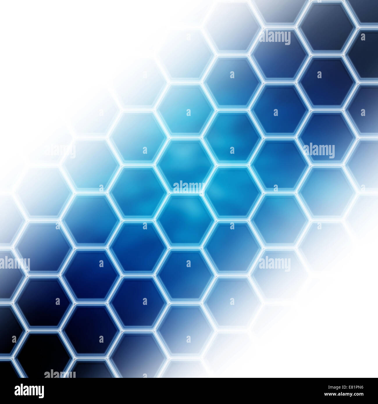 hexagonal cells pattern abstract background - Stock Image