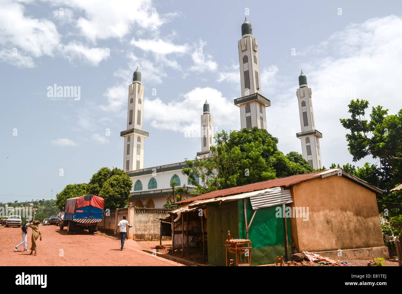 Mosque of Dalaba, region of the Fouta, Guinea - Stock Image